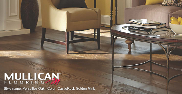 Mullican Flooring Style Name: Versailles Oak | Color: CastleRock Golden Mink.